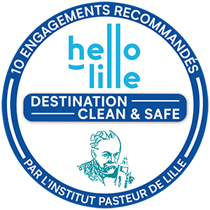 Logo Institut Pasteur de Lille Clean and safe