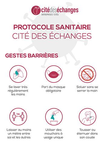Protocole sanitaire de la Cité des échanges
