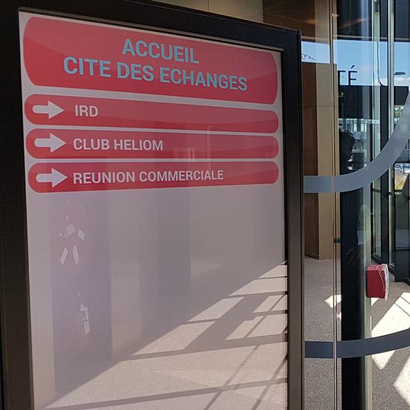 Signalétique Lille Cité des échanges